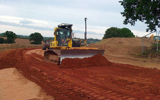 GPS Machine Controlled Dozer