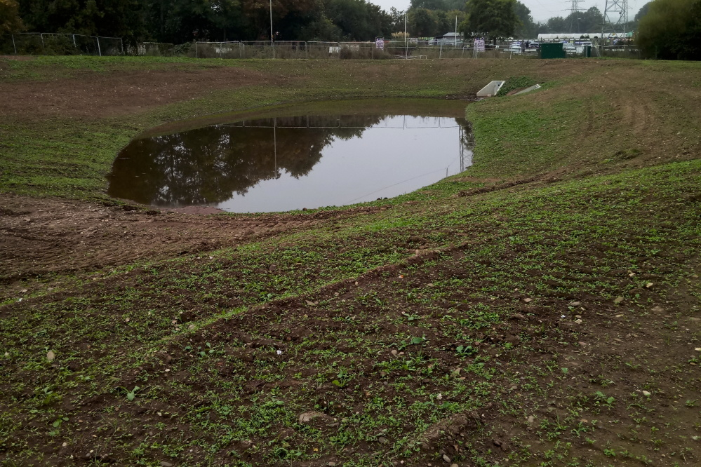 New attenuation pond