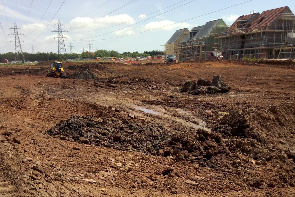 Work continues on forming new ponds
