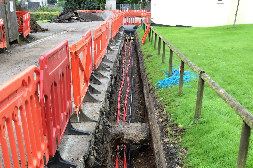 Trenching for new power supply