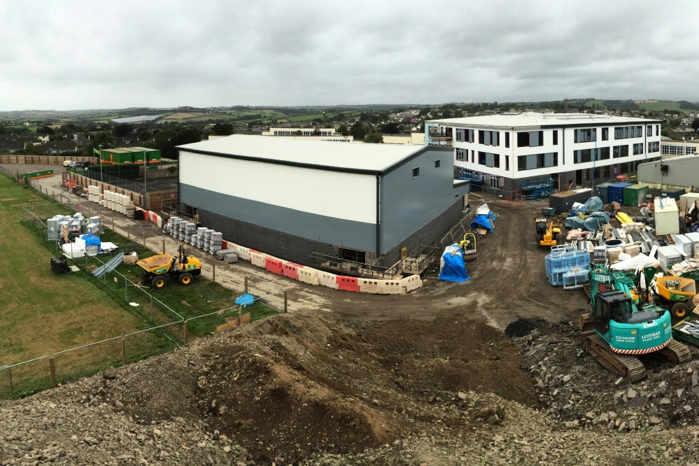 New sports hall and school taking shape