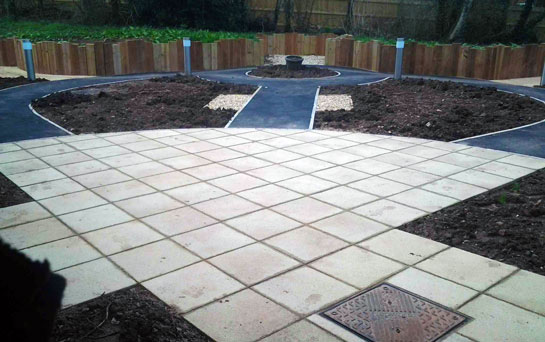 Footpaths & landscaping